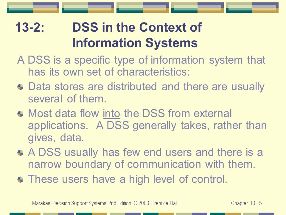 13-2: DSS in the Context of Information Systems