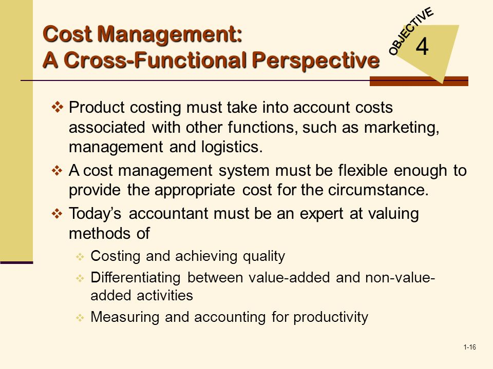 Cost Management: A Cross-Functional Perspective