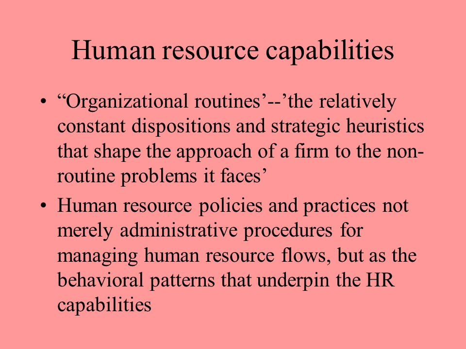 Chapter 5 Strategic Human Resource Management Within a Resource ...