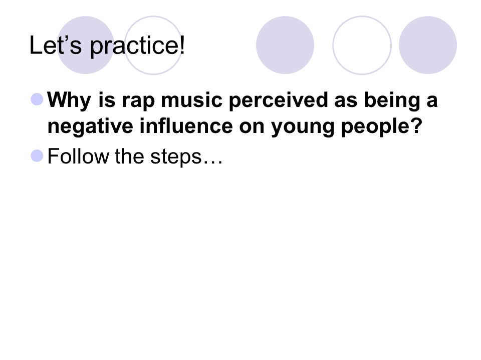 rap music negative influence on pop Hip hop music, also called hip-hop or rap music, is a music genre developed in the united states by inner-city african americans in the 1970s which consists .