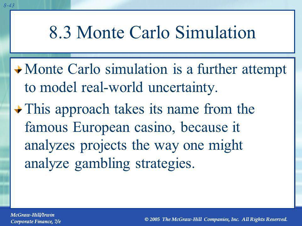 8.3 Monte Carlo Simulation