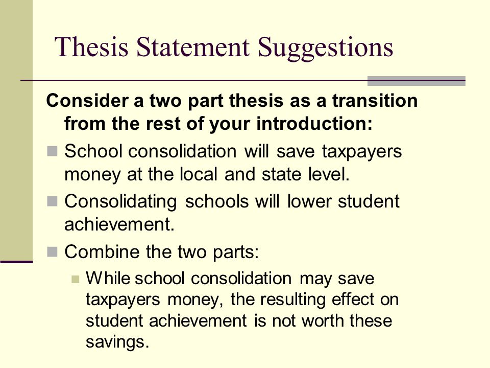 transition into thesis How to write a transition sentence if your essay is a road trip and your introduction and thesis are a roadmap, transition sentences are the signs on the road they tell your reader where to turn by connecting where they've been with.