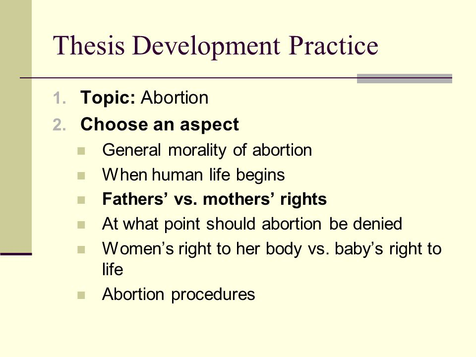 abortion thesis