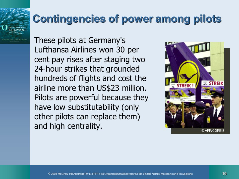 Contingencies of power among pilots