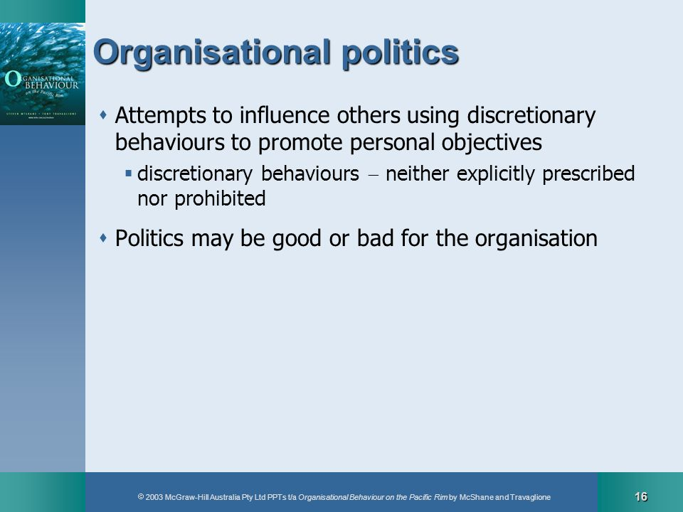 Organisational politics