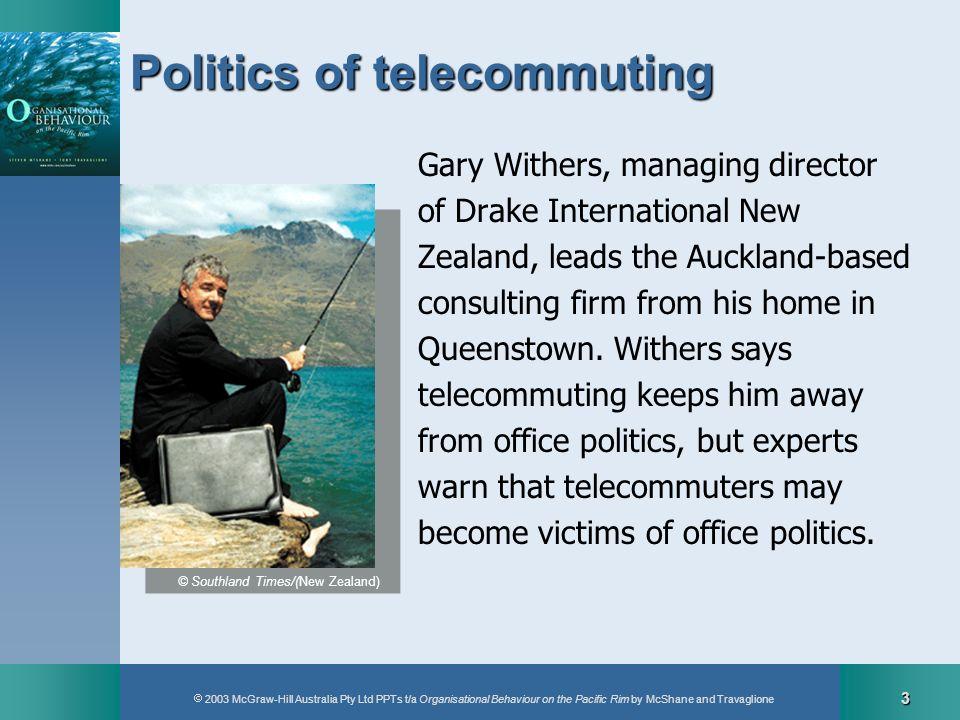 Politics of telecommuting
