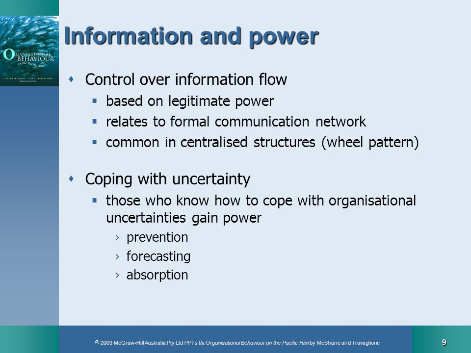 Information and power Control over information flow