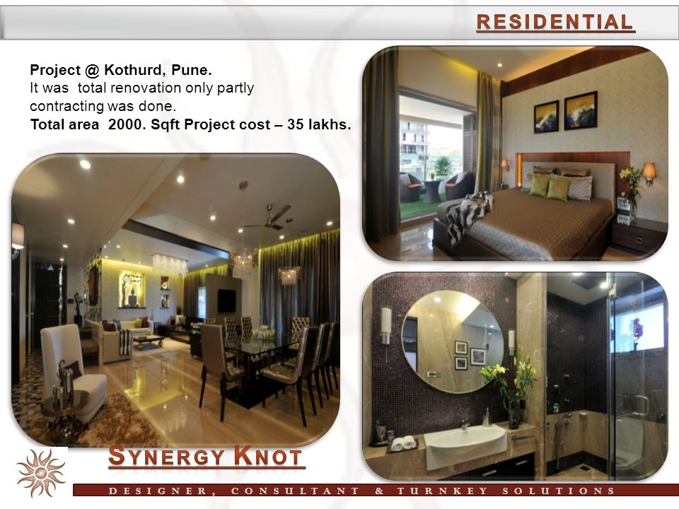 SYNERGY KNOT Interior Turnkey solutions ppt download