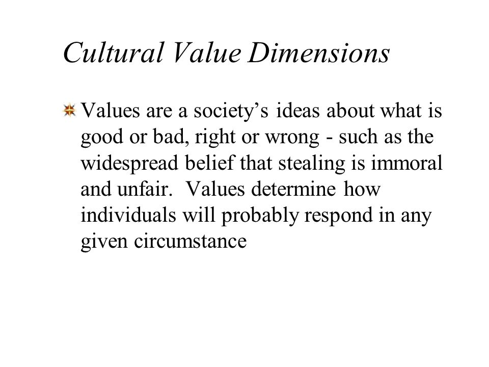 Cultural Value Dimensions