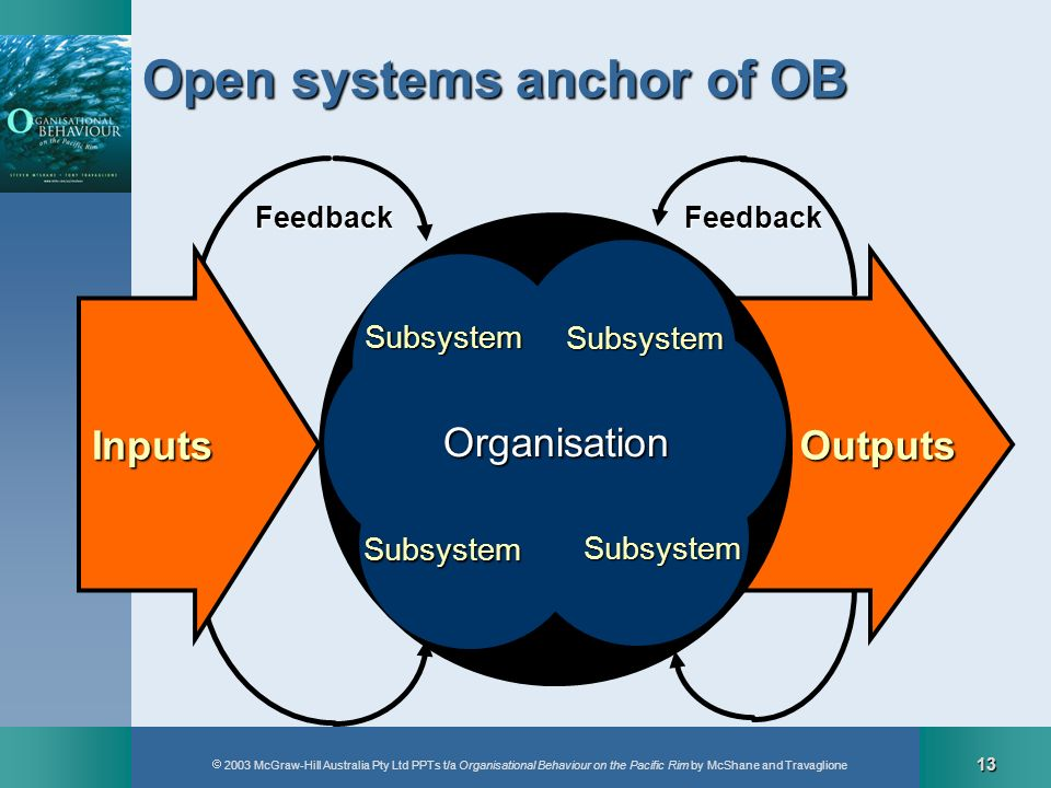 Open systems anchor of OB