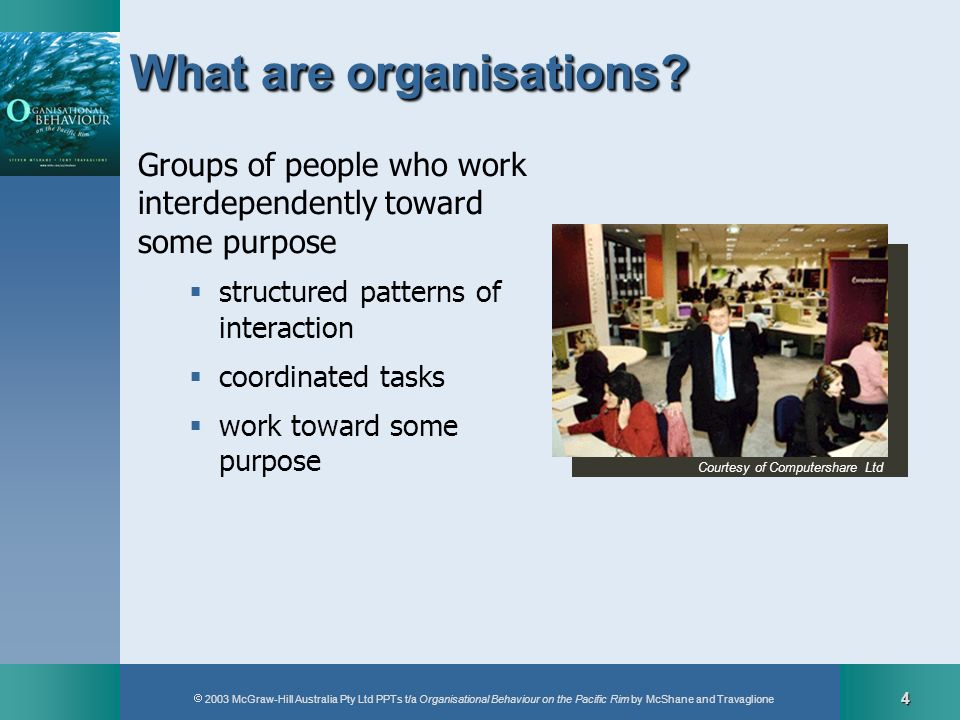 What are organisations