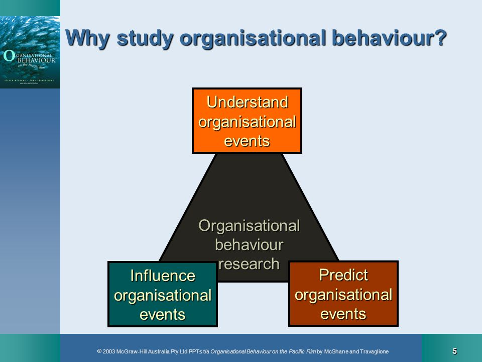 Why study organisational behaviour