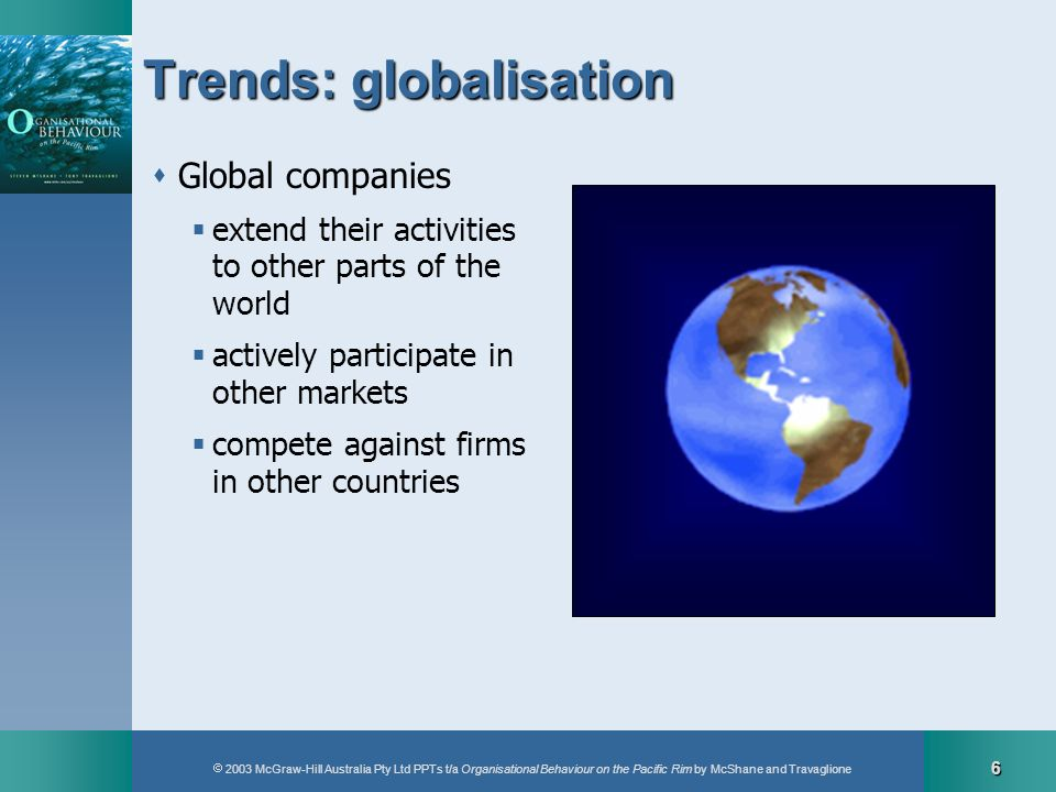 Trends: globalisation