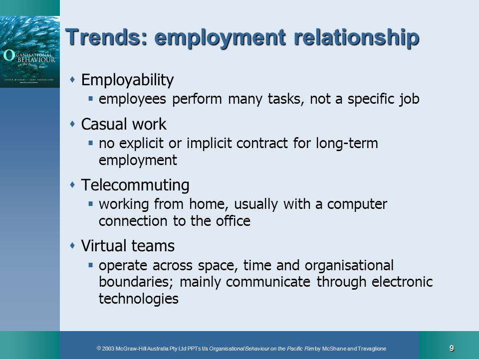 Trends: employment relationship