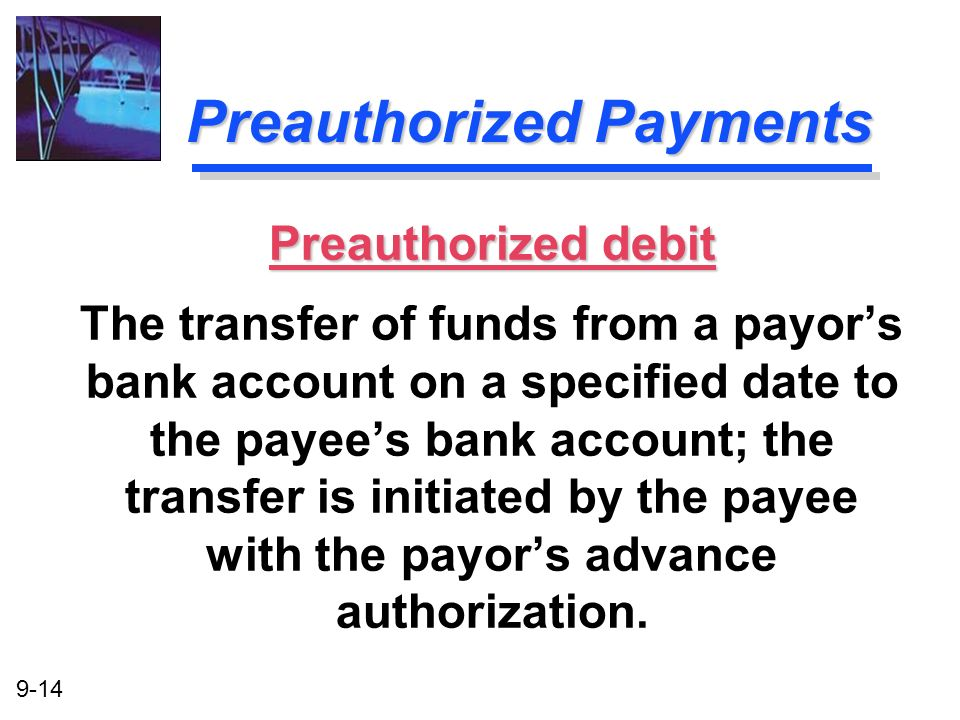 Preauthorized Payments