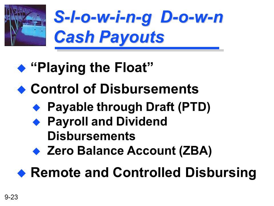 S-l-o-w-i-n-g D-o-w-n Cash Payouts