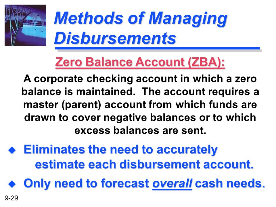 Methods of Managing Disbursements