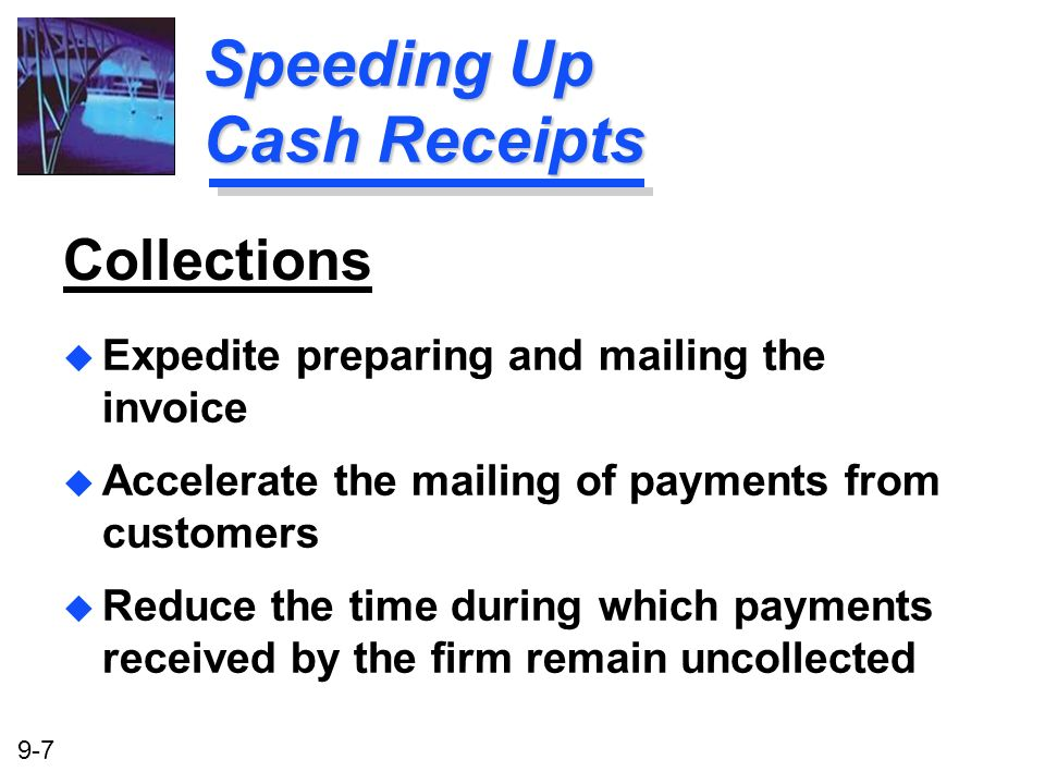Speeding Up Cash Receipts