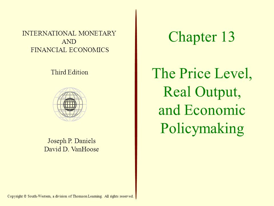 Chapter 13 The Price Level, Real Output, and Economic Policymaking