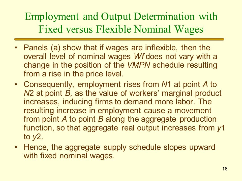 Employment and Output Determination with Fixed versus Flexible Nominal Wages