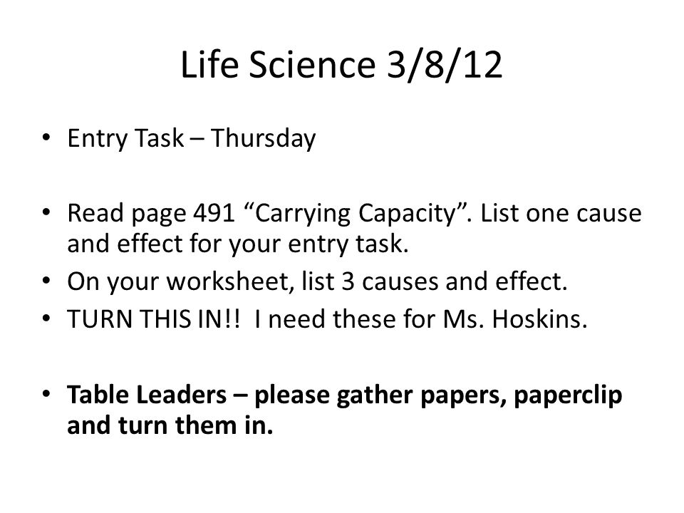 scientific cause and effect essay