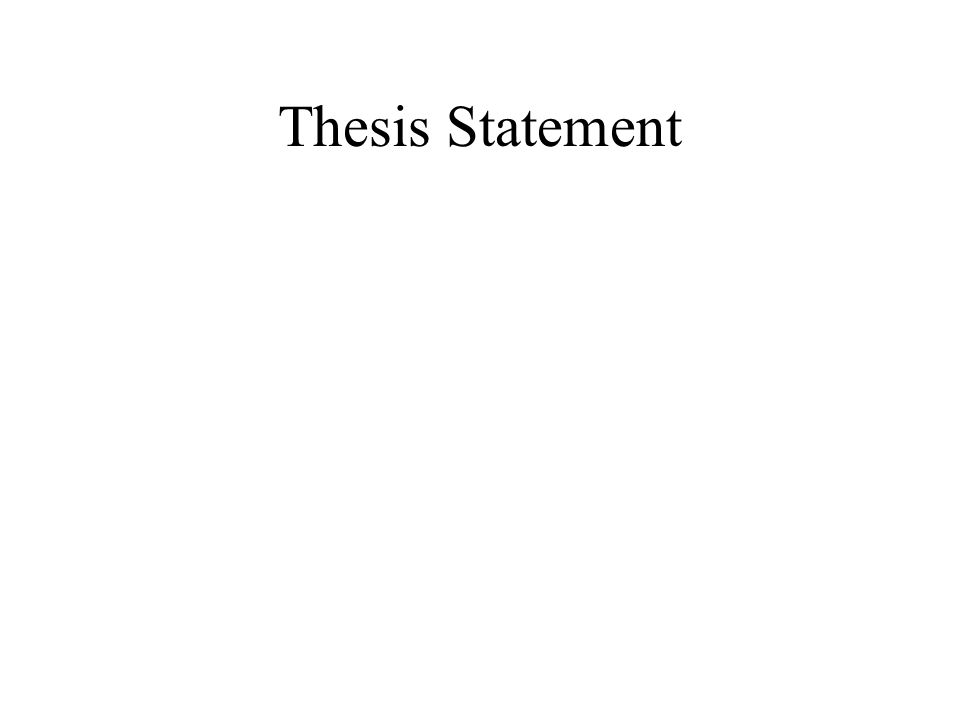 what are the two main parts of a thesis statement Which sets forth the main or controlling idea of a piece of writing in this statement,  the  2) how a thesis statement strengthens unity: each sentence.