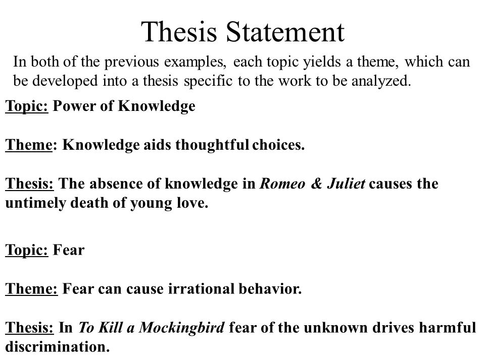 Thesis statement examples discrimination