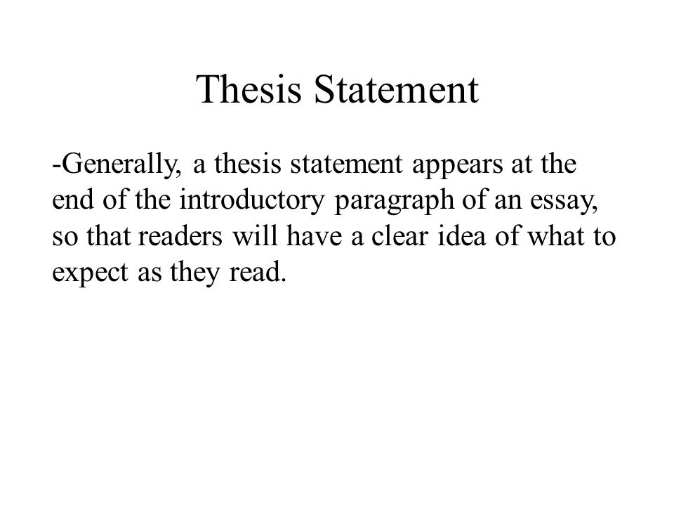 Ending thesis statement