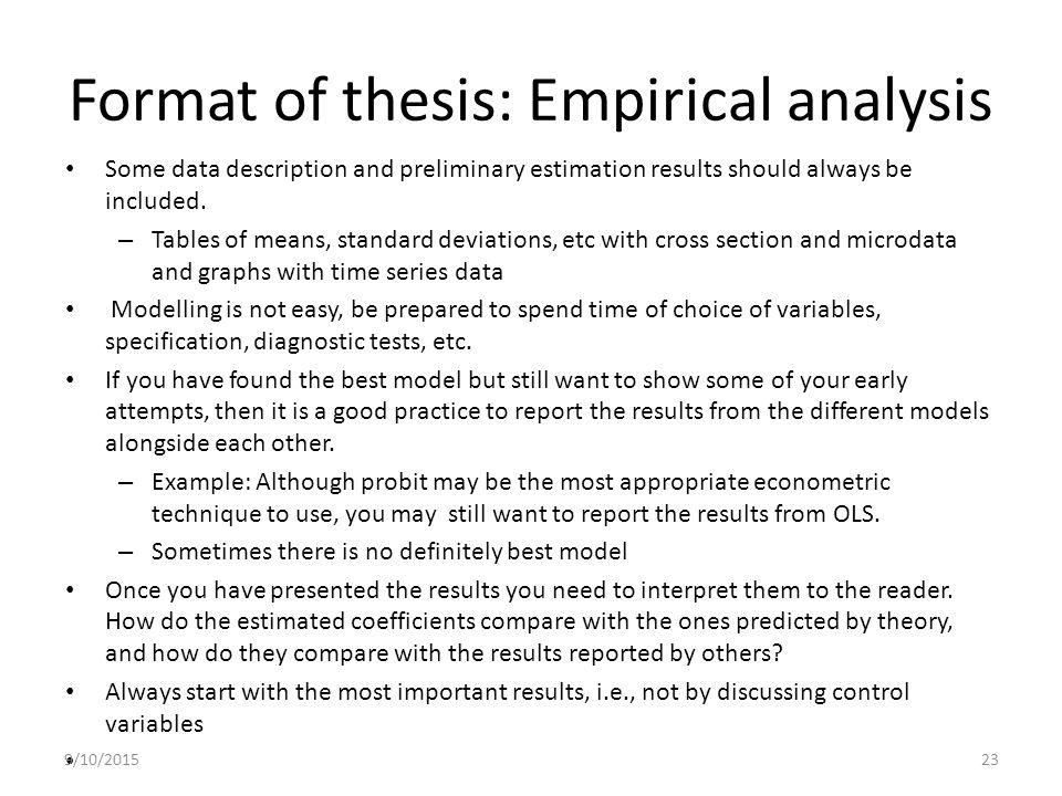 presentation data analysis thesis A multiple regression analysis of factors concerning superintendent longevity and continuity relative to student achievement analysis and presentation of data.