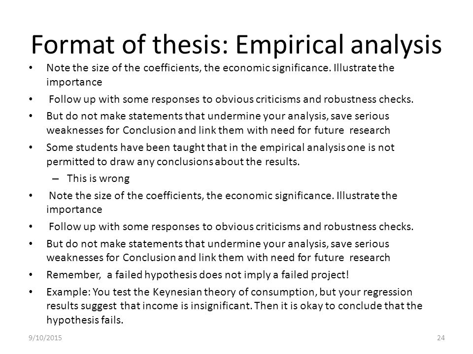 thesis empirical research