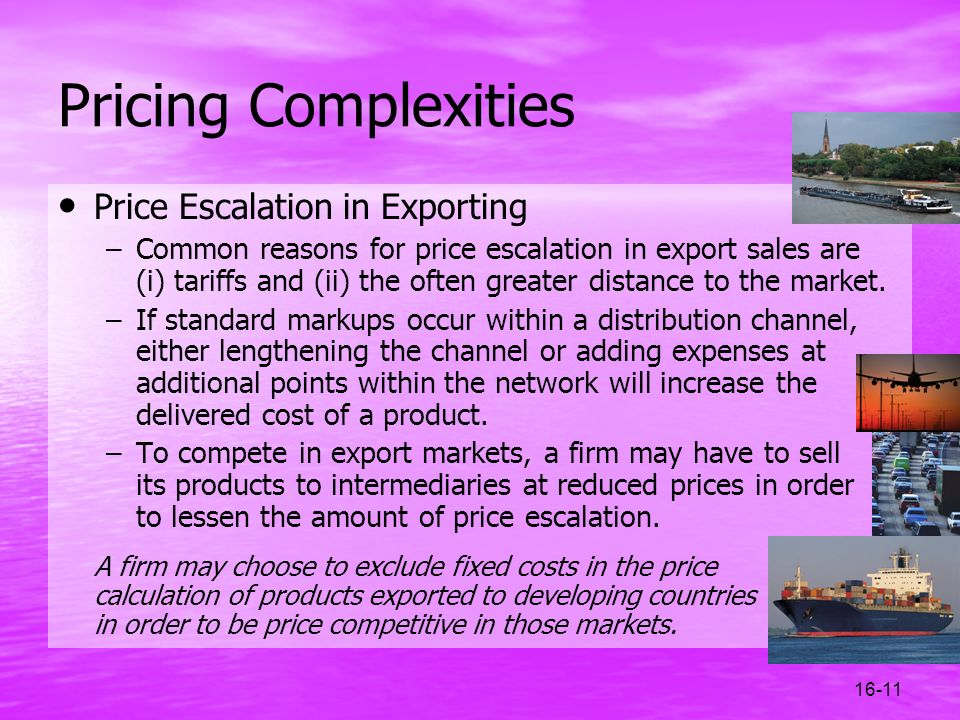 Pricing Complexities Price Escalation in Exporting