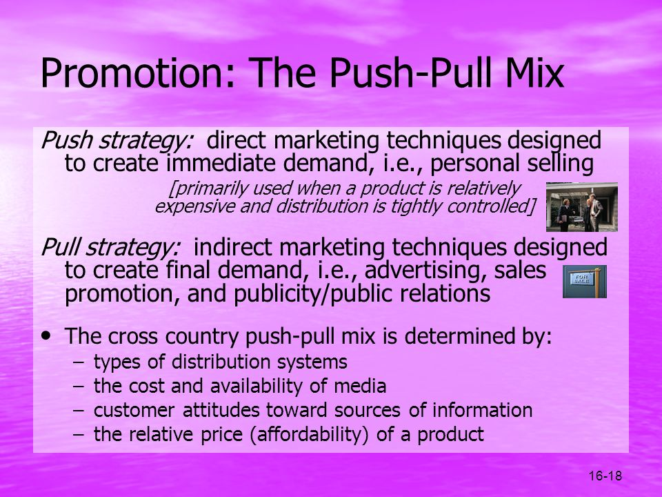 Promotion: The Push-Pull Mix