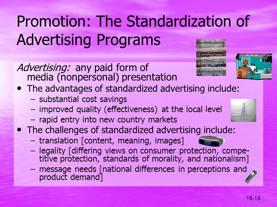 Promotion: The Standardization of Advertising Programs