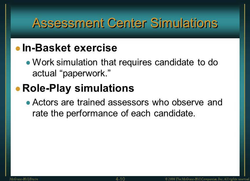 Assessment Center Simulations