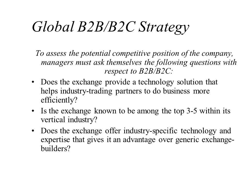 Global B2B/B2C Strategy