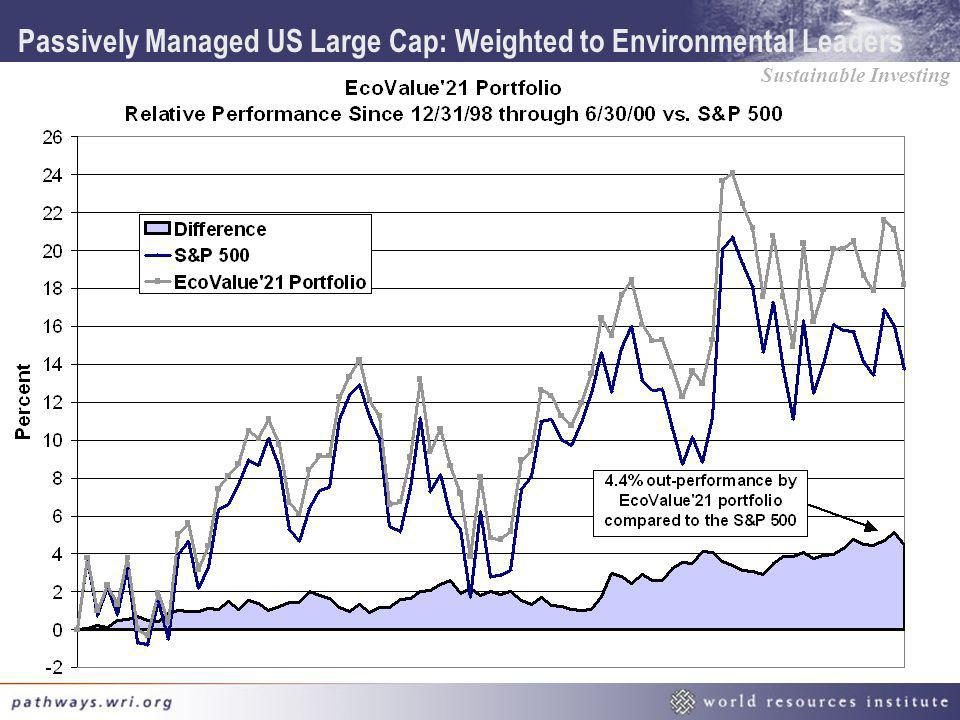 Passively Managed US Large Cap: Weighted to Environmental Leaders