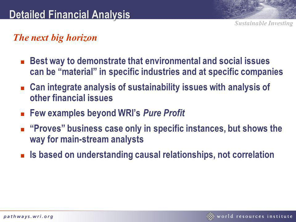 Detailed Financial Analysis