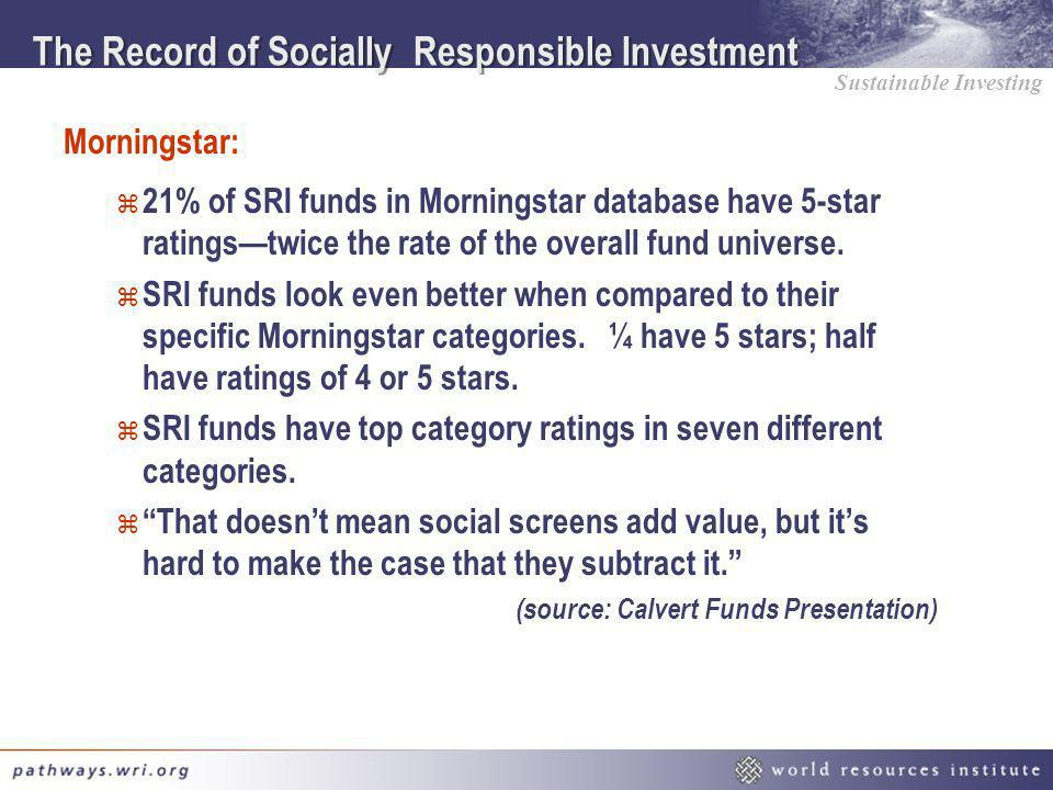 The Record of Socially Responsible Investment