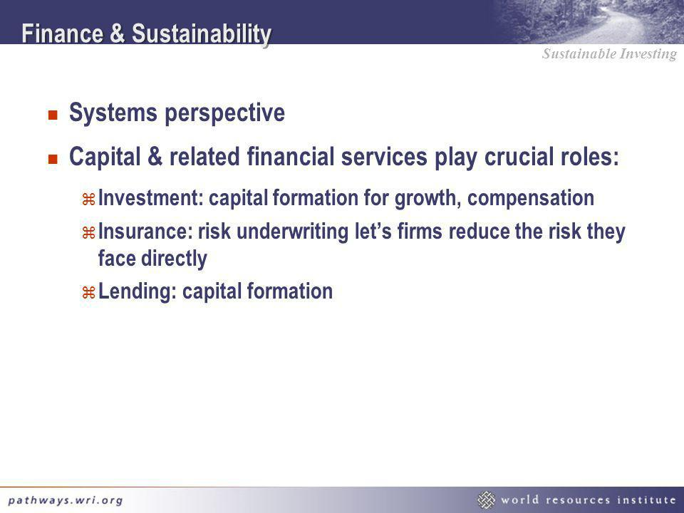 Finance & Sustainability