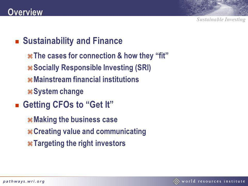 Sustainability and Finance