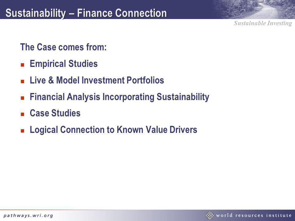 Sustainability – Finance Connection