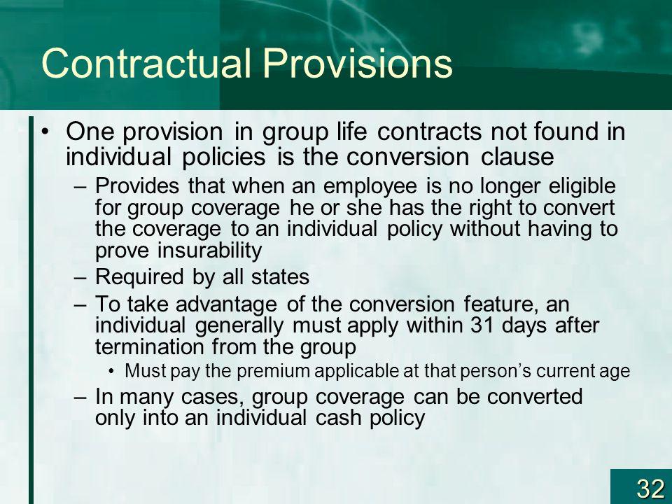Contractual Provisions