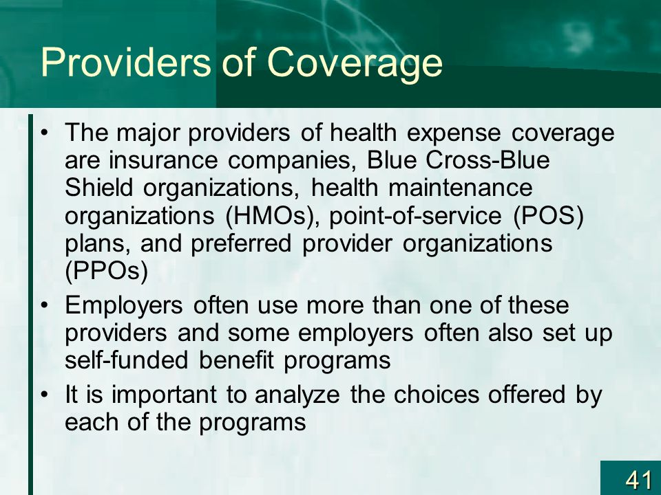 Providers of Coverage