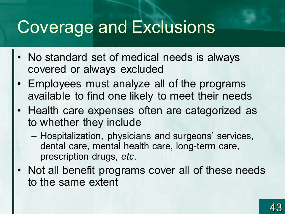 Coverage and Exclusions