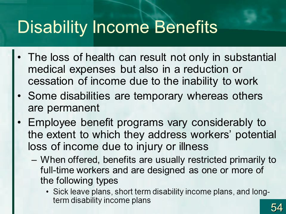 Disability Income Benefits