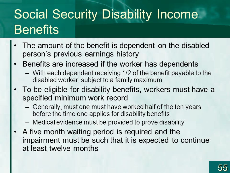 Social Security Disability Income Benefits