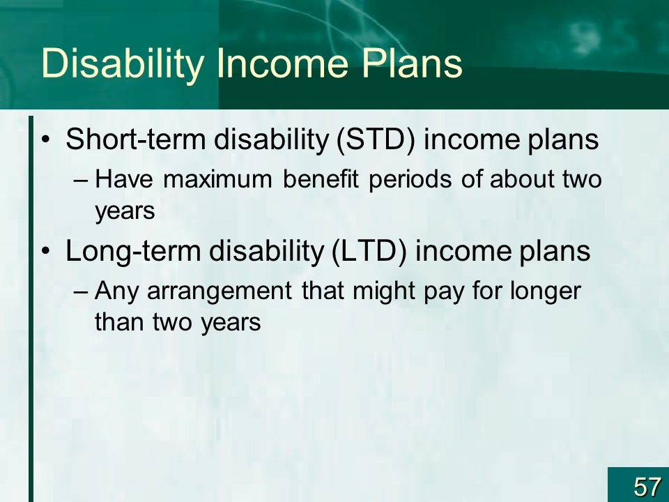 Disability Income Plans