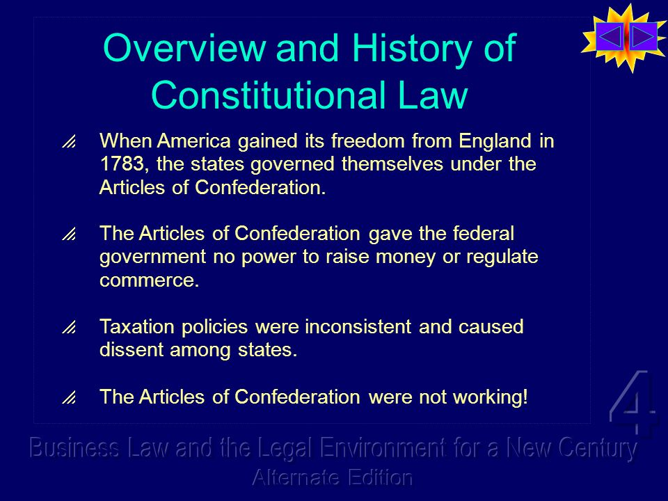 Overview and History of Constitutional Law