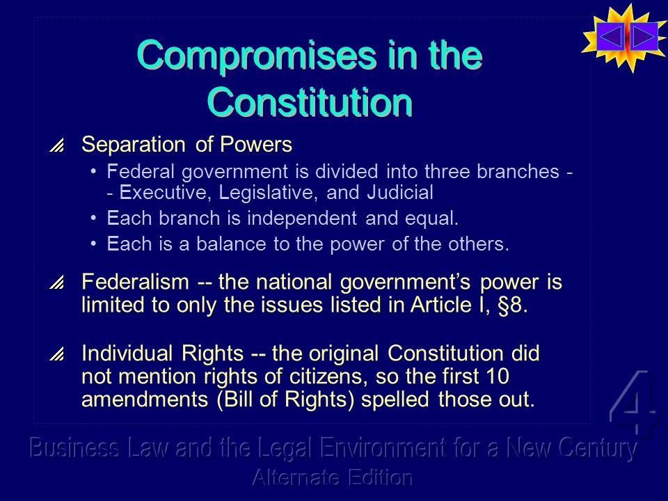Compromises in the Constitution