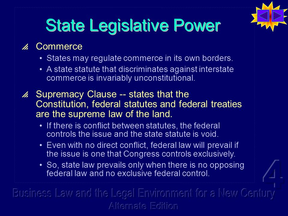 State Legislative Power